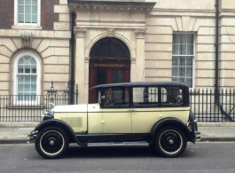Vintage American wedding car for hire in London